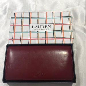 Lauren by Ralph Lauren Red Leather Wallet